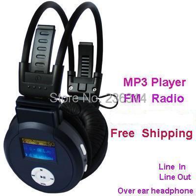 Folding stereo mp3 player over e for ar headphone headset FM Earphones  black white pink for choosing good for gift free shipping d3b4017cc1