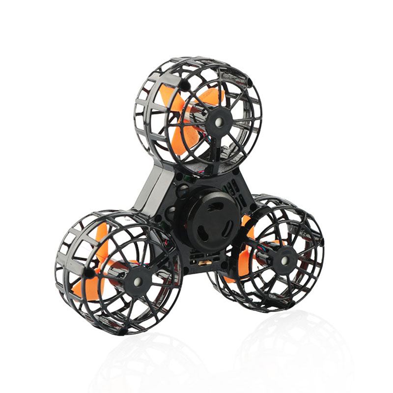 Drone Flying Pressure Relief Toy Mini Fidget Spinner Rechargeable Automatic Rotating Flying Gyro Flying Spinner For Adults Kids