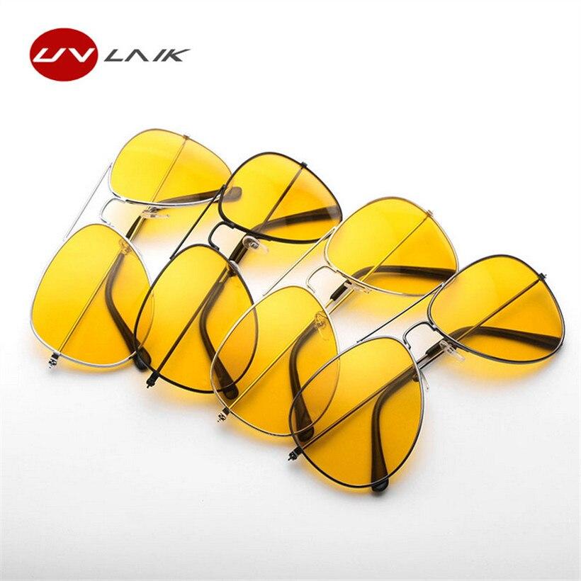 UVLAIK conductor gafas conducción nocturna gafas de sol hombres mujeres UV400 Shades piloto Sunglass hombre mujer gafas de visión nocturna gafas de sol