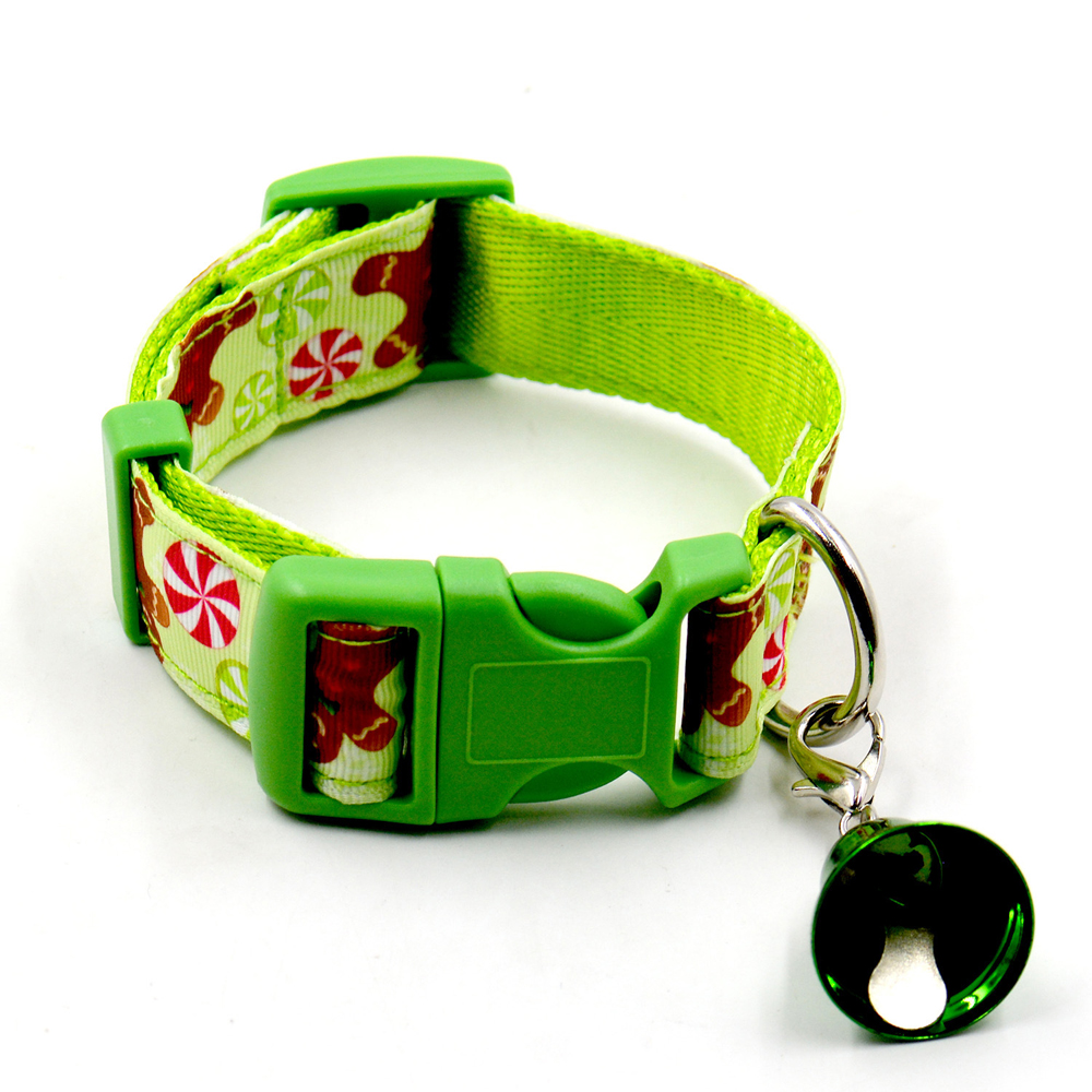 12pcs/lot Christmas pet collars dog collar pet collar bell collar dog festival Large Nylon Harness Traction Rope Walking Lead