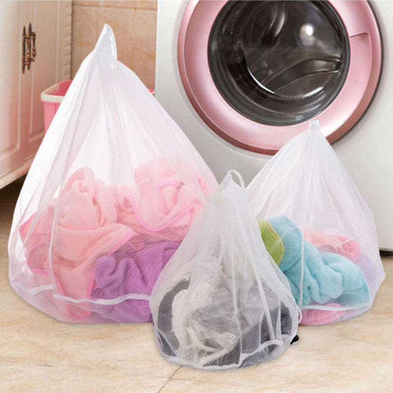 Free Shipping 1pcs Useful Drawstring Bra Underwear Laundry Bags Baskets Mesh Bag Protective Bags Clothing Care Cleaning Tools