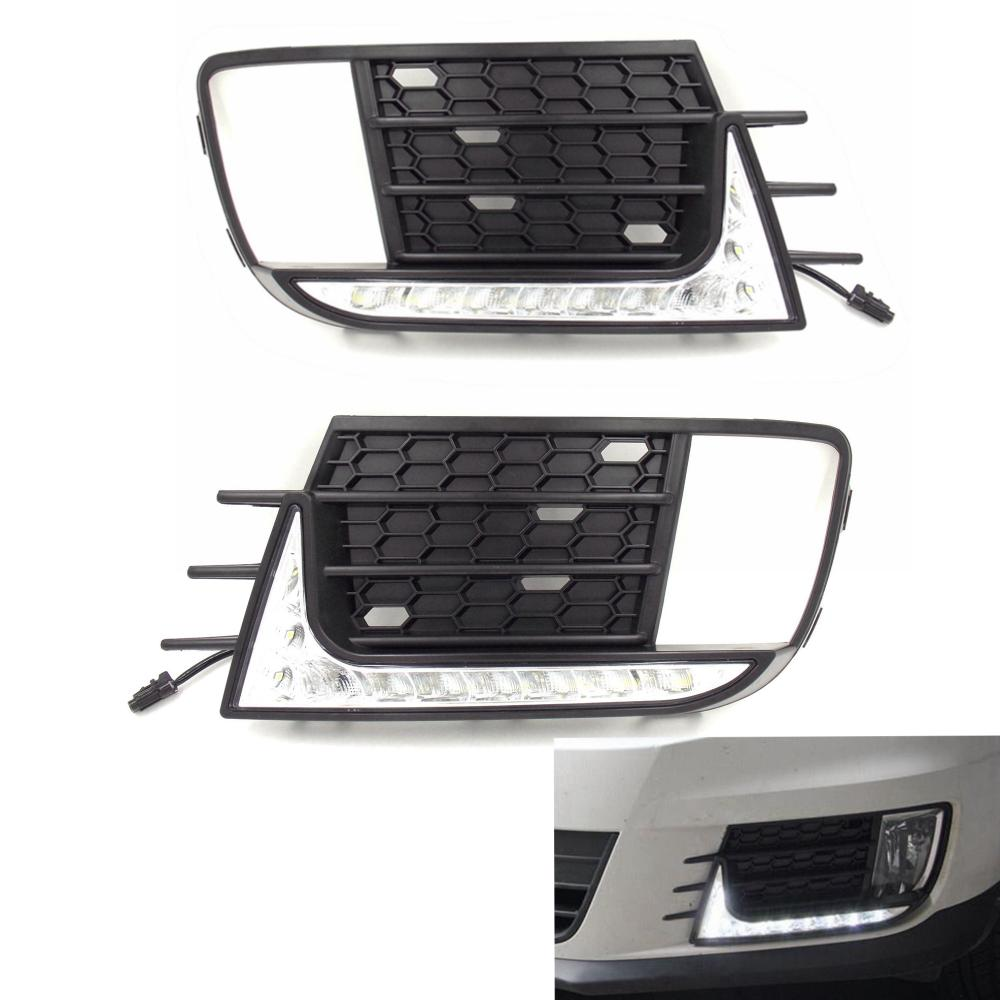 The Original Car Appearance Car Daytime Running Light for New 2013 2014 Volkswagen Tiguan car rear trunk security shield cargo cover for volkswagen vw tiguan 2016 2017 2018 high qualit black beige auto accessories