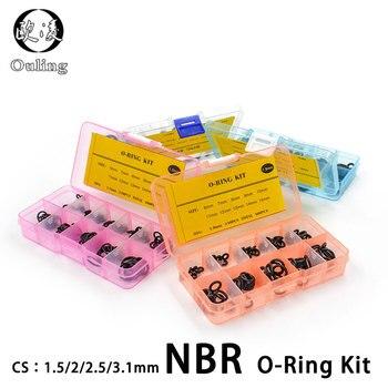 Thickness 1.5/1.9/2.4/3.1/1.8/2.65mm Nitrile Rubber Ring NBR O-Ring Seal Sealing O-rings Washer oring set Assortment Kit Set Box