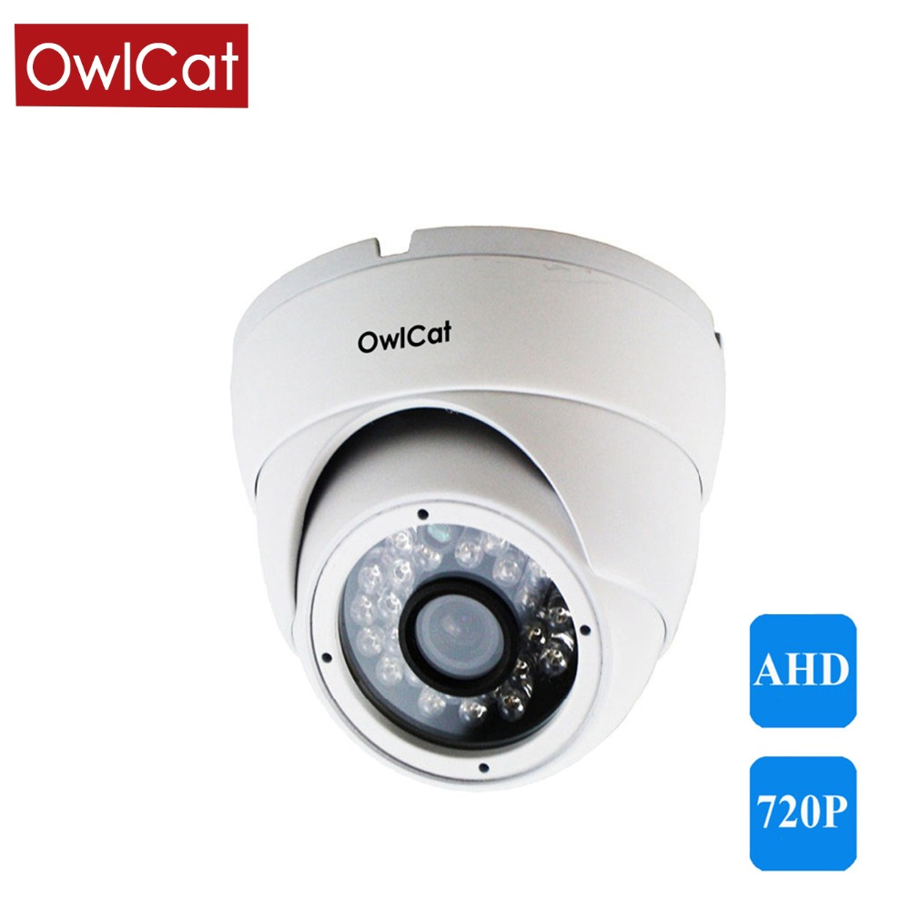 OwlCat AHD 720 P 1080 P caméra dôme intérieure CCTV sécurité vidéo Surveillance blanc infrarouge IR Vision nocturne AHD-M 1MP 2MP caméra