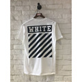 Justin Bieber Top Tees Cotton Casual Brand T Shirts Rappers Striped Pattern OFF White Hip Hop Harajuku Summer StreetWear