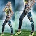 Эластичные брюки 3D печати 32 леггинсы здание sexy hot leopard брюки горячее тело женщины тигры леггинсы