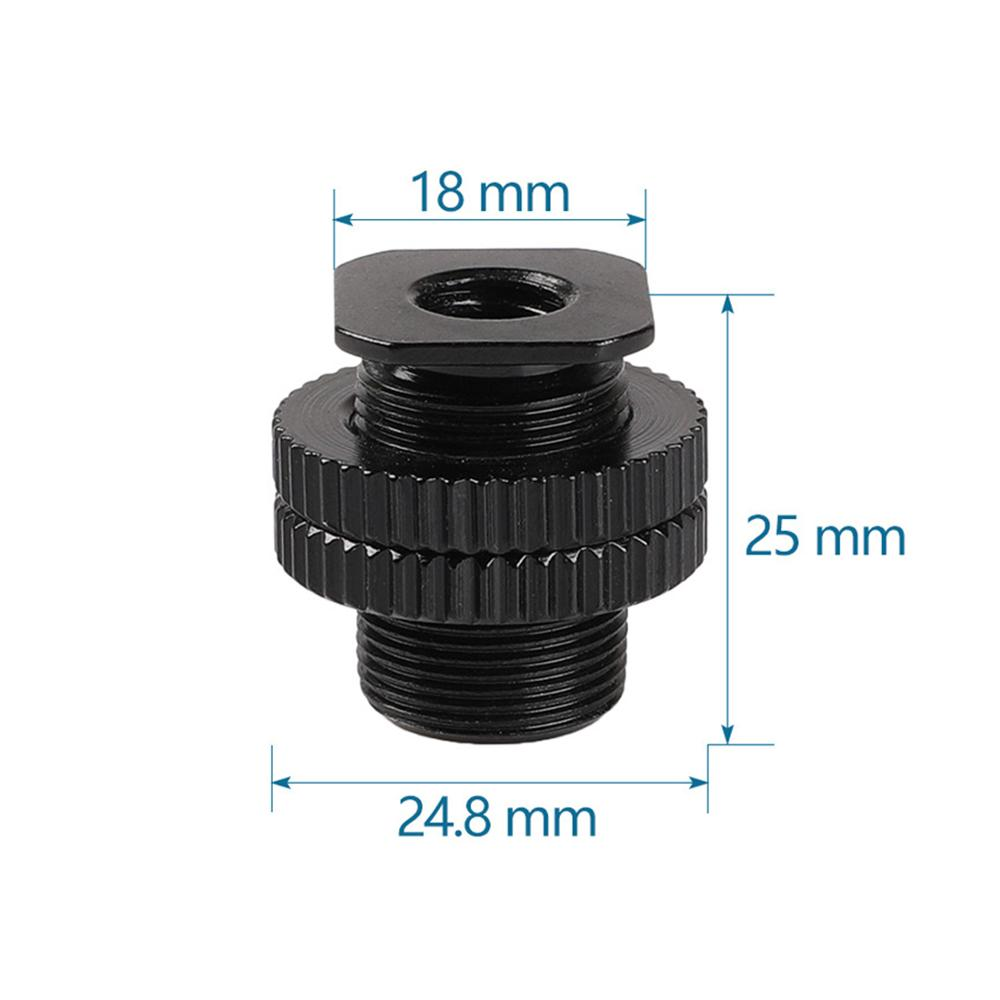"1/4"" Female to 5/8"" Male Dual Adapter Screw DSLR Camera Photography ACC Tripod Mic Mount Cold Shoe Screws Metal Shockproof Clip"