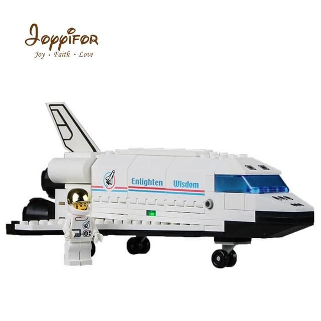 US $0 88 |Joyyifor 125pcs Space Shuttle Discovery Building Blocks 3D Model  Plane Construction Figures Bricks Toys for Children Kids Gifts-in Blocks