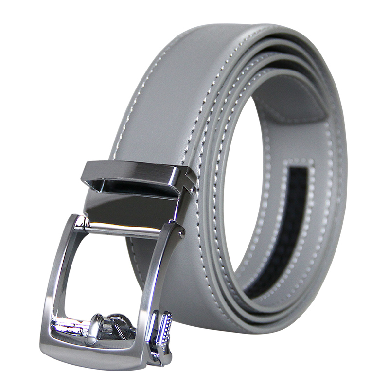 New Brand Designers High Quality Men's Belts Luxury Automatic Buckle Genuine Leather Gray Belts For Mens 3.5 Width