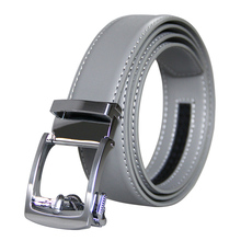 New Brand Designers High Quality Mens Belts Luxury Automatic Buckle Genuine Leather Gray for 3.5 Width