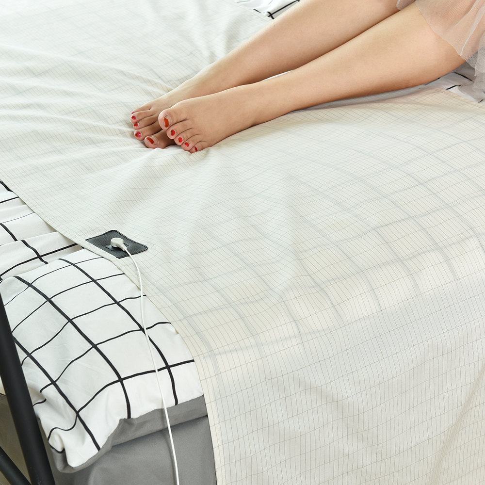 EarthHalf Sheet Silver Antimicrobial Conductive Fabric Grounded sheet For Health EMF Protection