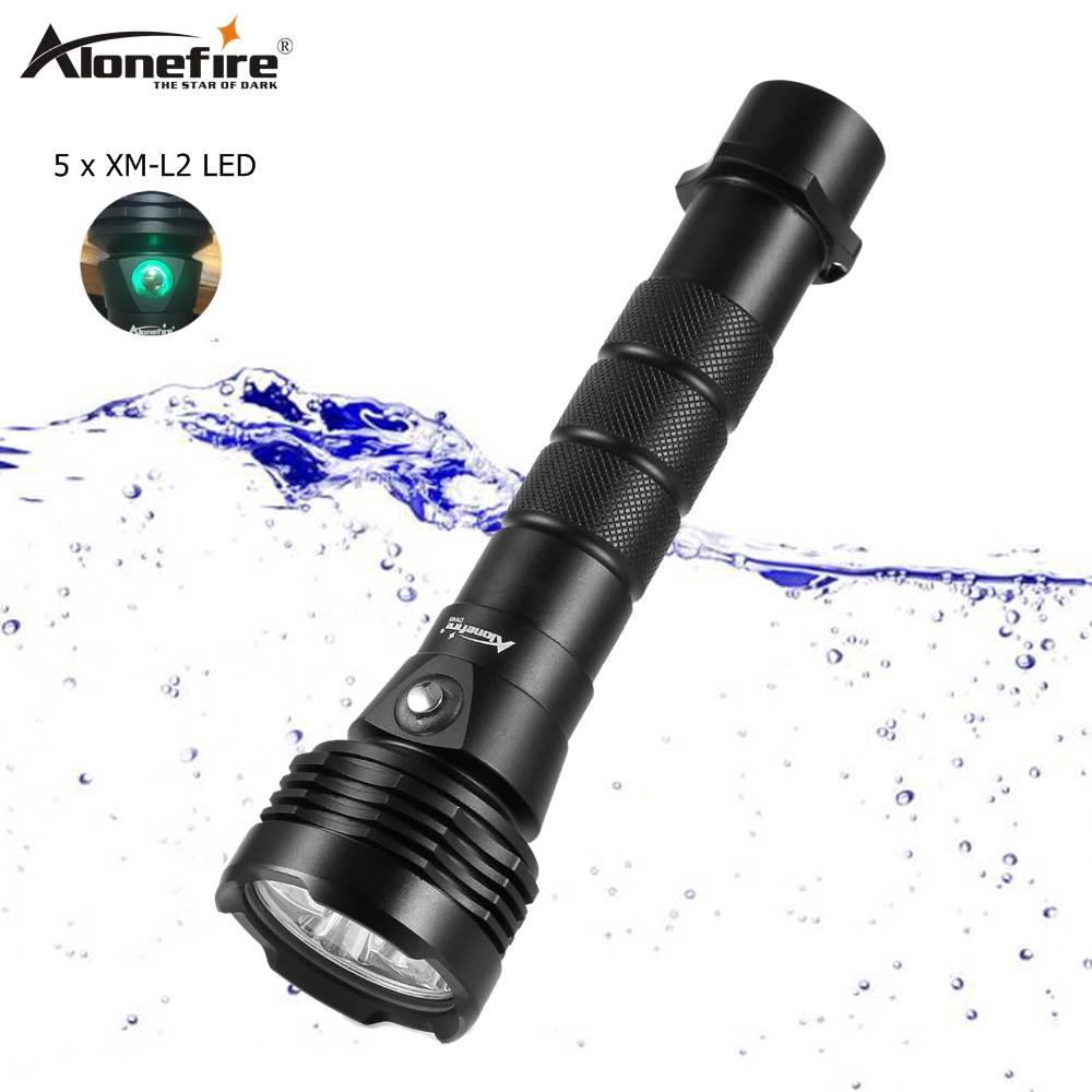 AloneFire DV45 lampe de poche de plongée 18650 LED torche sous-marine XM-L2 étanche plongée lumière plongeur torche Portable lumières