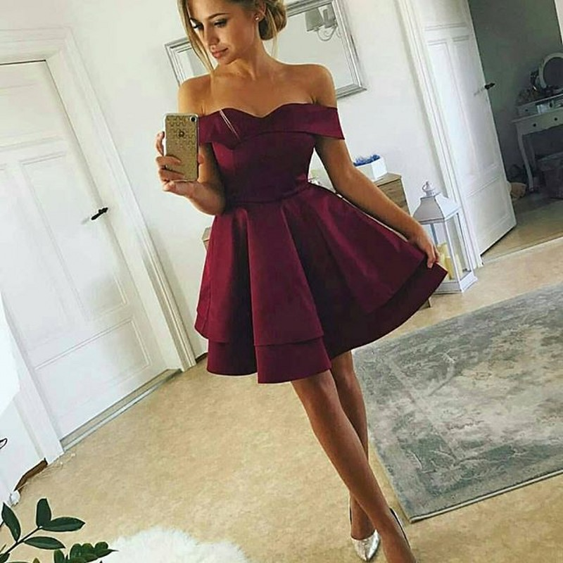 Short Burgundy   Bridesmaid     Dresses   vestido madrinha brautjungfernkleid Knee Length   Bridesmaid     Dress   Wedding Party for Woman