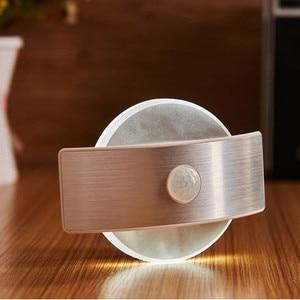 Image 3 - USB Rechargeable Night Light With Motion Sensor 14 LED Sensor Light Wireless Wall Lamp Light For Kids Bedroom Bedside Staircase