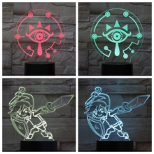 The Legend of Zelda LED Night Light USB Touch Sensor RGB Child Kids Gift Cartoon Toys Game Breath of the Wild Table Lamp Bedroom the legend of zelda 3d night lights table lamp anime game breath of the wild visual illusion 3d led luces navidad dropshipping