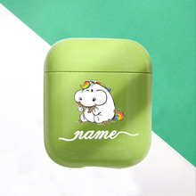 Candy Cute Unicorn Hard Earphone Case For Apple Airpods Protective Cover DIY Customized Green Cases