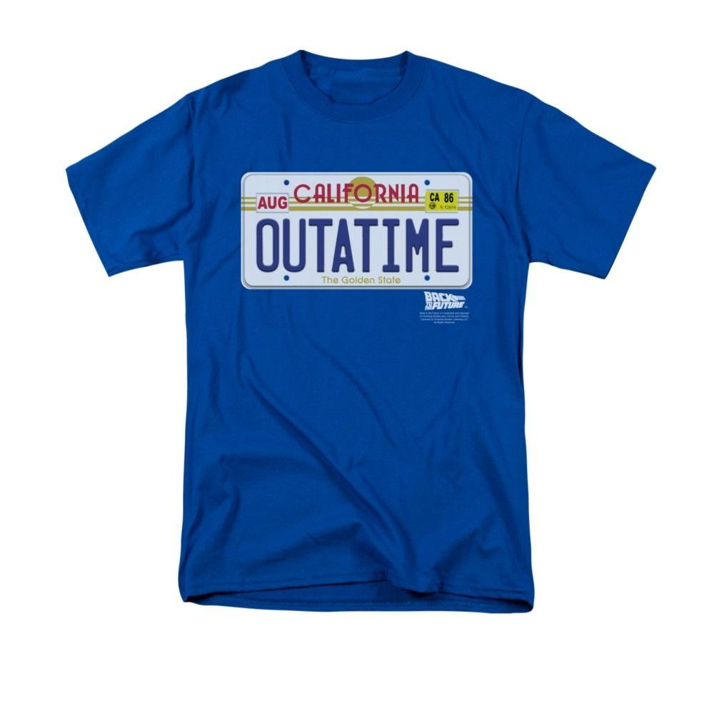 Back To The Future Movie Outatime Plate Licensed Adult T Shirt