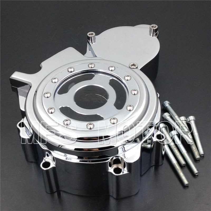 Motorcycle Part For Suzuki GSXR 600 750 2006 2007 2008 2009 2010 2011 2012 2013 Left side Engine Stator cover see through Chrome fit for honda cbr1000rr cbr1000 2008 2009 2010 2011 2012 2013 2014 motorcycle engine stator cover see through chrome lefe side
