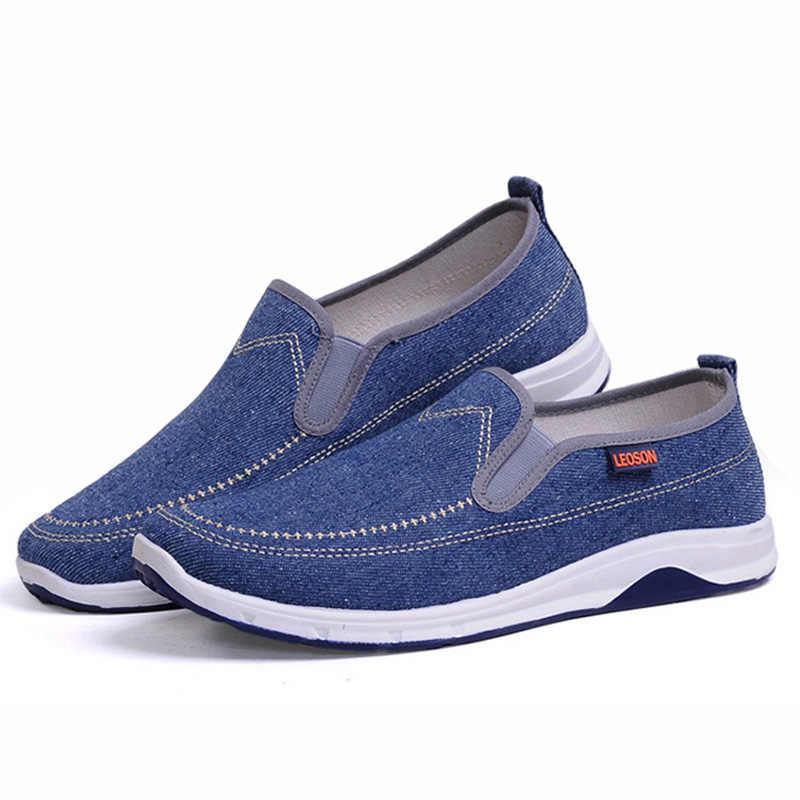 Mannen Canvas Schoenen Mode Mannen Loafers Denim Mannen Casual Schoenen 2019 Jeugd Loafers Comfort Mannen Sneakers Mocassins Mannelijke Wandelschoenen