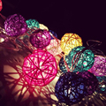 Fairy Light Wedding Decoration Luminaria Lamp Baby Night Light Garland Rattan Ball  Light Children Lampara LED Lamp Battery Plug