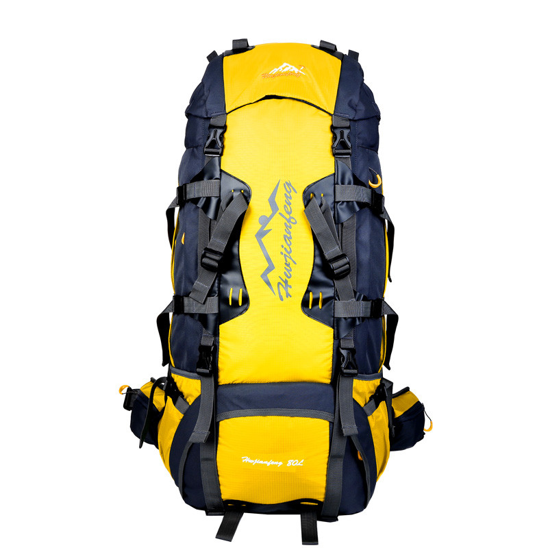 Travel bag Large-capacity outdoor climbing backpack waterproof carrying system bag outdoor Backpack Camping 80L Hiking Bags стоимость