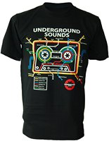 100 Cotton O Neck Short Sleeve T Shirt Fashion Urban Mixtape Cassette Tape Subway Map DJ