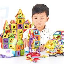 402 adet DIY manyetik yapı taşları tasarımcı inşaat oyuncak seti modeli mıknatıs eğitim hobiler oyuncaklar çocuk hediyeler için