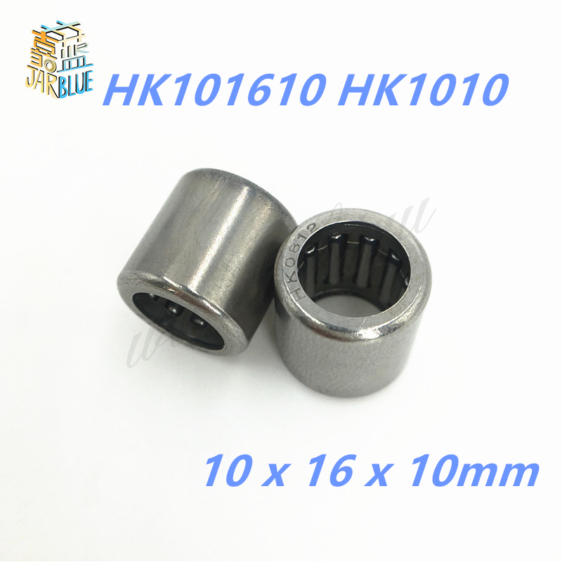 Free shipping 10Pcs High Quality HK101610 <font><b>HK1010</b></font> 7941/10 10*16*10mm Drawn Cup Type Needle Roller Bearing 10 x 16 x 10mm image