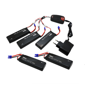 Image 1 - Hubsan H501S lipo battery 7.4V 2700mAh 10C 5pcs Batteies with cable for charger Hubsan H501C rc Quadcopter Airplane drone Spare