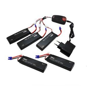 Image 1 - Hubsan h501s lipo batterij 7.4 v 2700 mah 10c 5 stks batteies met kabel voor charger hubsan h501c rc quadcopter vliegtuig drone spare