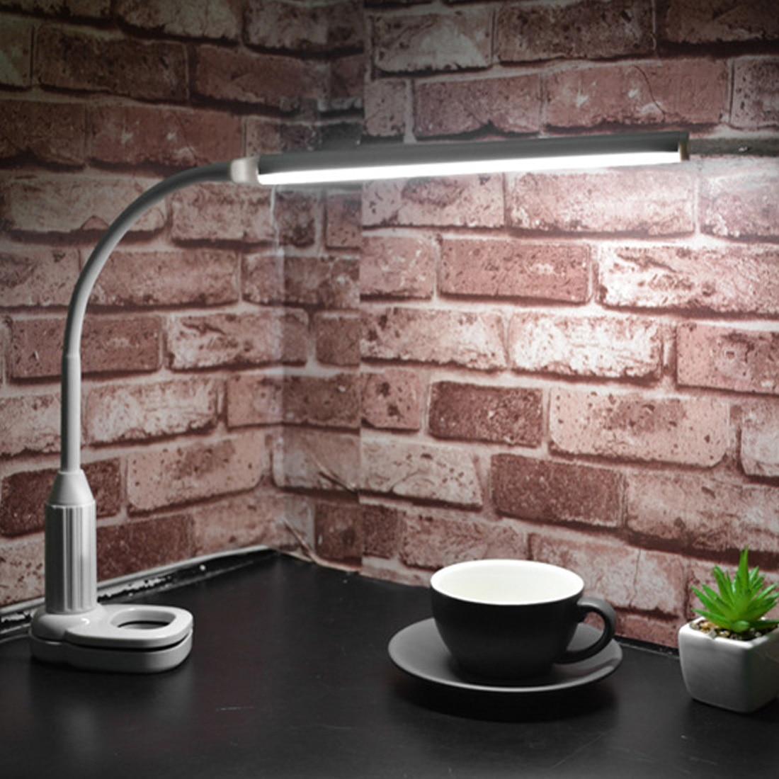 USB Powered Touch Sensor Led 5 watt 24 LEDs Auge Schützen Clamp Clip Licht Mini Ordner Lampe Tisch Lampe Stufenlose dimmbare Biegsamen