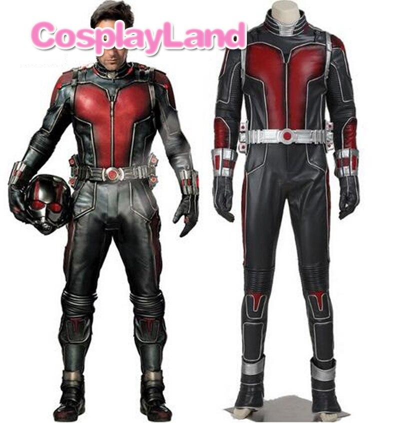 Ant homme Costume Ant-homme Scott Lang Cosplay Costume En Cuir Ant-hommes Salopette Fantaisie Halloween Superhero Costumes Personnalisé fait
