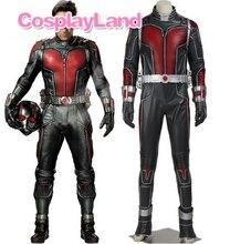 Ant Man костюм Человек-муравей Скотт lang Косплэй костюм кожа Ant для мужчин-комбинезон Необычные Хэллоуин Костюмы супергероев индивидуальный заказ