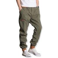 Mens Joggers Chino Pants Casual Fashion Slim Jogger Cotton Sweatpants Large Size Men Beam Feet Harem