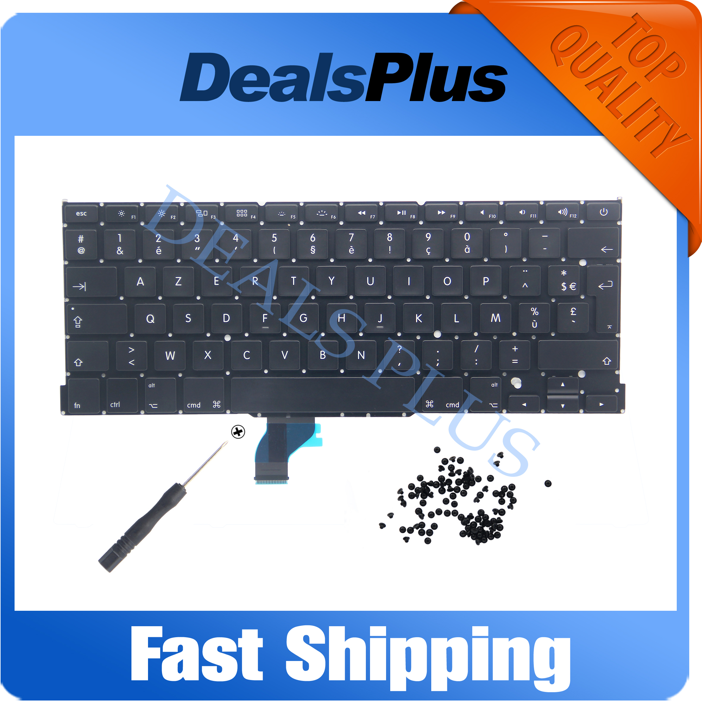 New French France FR AZERTY Keyboard For Macbook Pro Retina 13 A1502 ME864 ME865 ME866 2013 2014 2015 Year + 100 pcs screws image
