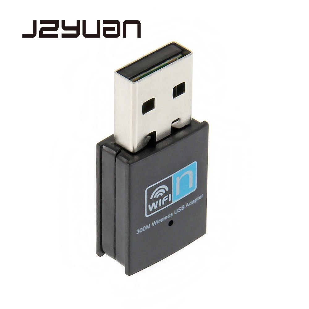 JZYuan 300Mbps Wifi Adapter 2.4G USB Wifi Receiver Dongle 802.11b/n/g Ethernet Network Card For Laptop Computer Desktop Usb Wifi