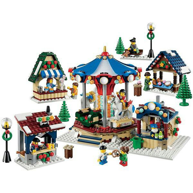 LEPIN 36010 Creative Series 1412pcs The Winter Village Market Building Block Bricks set Toys For children legoing 10235 Gift lepin 36010 genuine creative series the winter village market set legoing 10235 building blocks bricks educational toys as gift