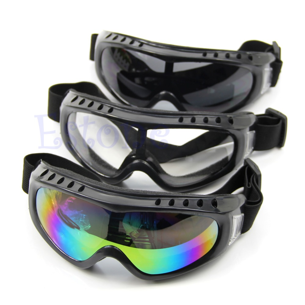 Safety Outdoor font b Skiing b font Goggles Coated Sport Dustproof Sunglass Eye Glasses New