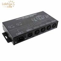 AC100 240V 입력 고전압 dmx 증폭기/분배기/dmx 신호 중계기/4ch xlr 출력 포트 dmx512 신호 분배기 dmx124|RGB 컨트롤러|등 & 조명 -