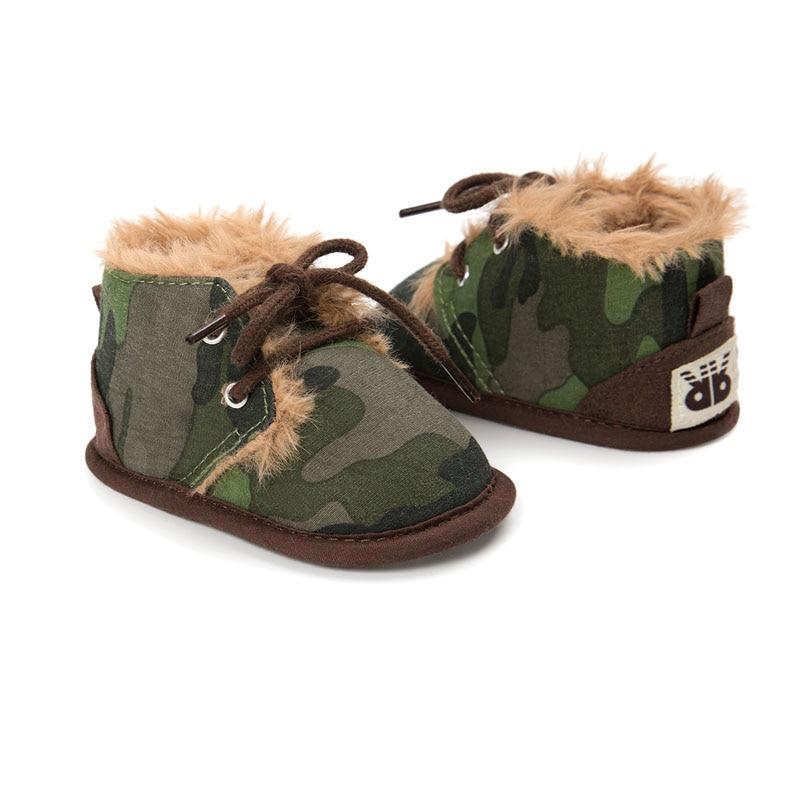 Baby Winter Boots Newborn Infant Toddler Kids First Walkers Warm Girls Boys Soft Sole Anti-Slip Prewalker Baby Shoes Camouflage