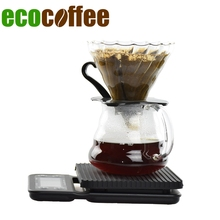 Free Shipping V60 Coffee Set Coffee Scale with timer Coffee Server Coffee Filter