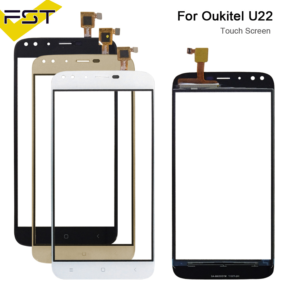Mobile Phone Touchscreen For Oukitel U22 Touch Touch Screen Touch Panel Sensor Black/White/Gold Colors Phone Repair +Free Tools
