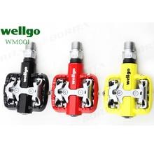 цена на Wellgo WM001 Bicycle MTB Pedals Self-Locking Clipless Magnesium mountain bike pedal
