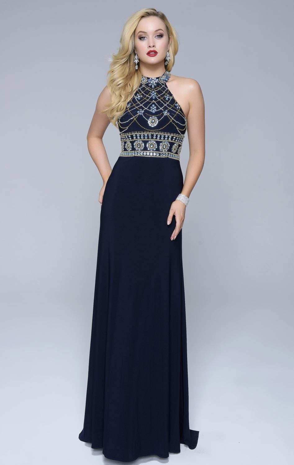Online Buy Wholesale white and navy blue prom dress from China ...