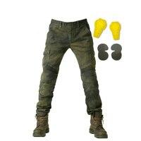 Мотоциклетные штаны Для мужчин Motor Jeans для верховой езды Touring мотоцикл брюки Мотокросс брюки с защитным Шестерни