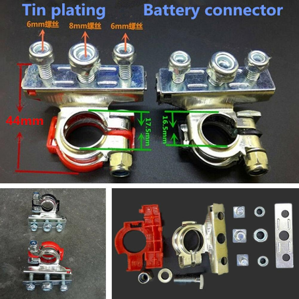 2x Car Battery Terminals Clamps Fast Release Van Motor Auto Screw Connector