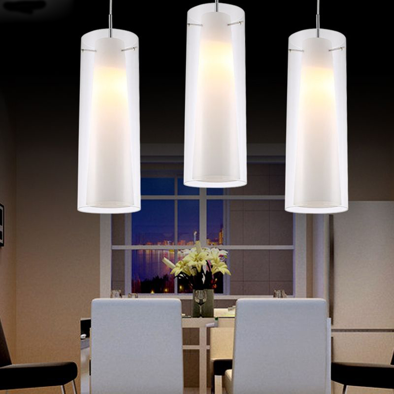 New Modern Glass Kitchen Bar Pendant L& 3 Lights E27 Fitting Rectangle Canopy Suspension Hanging Pendant Lighting PL39 3-in Pendant Lights from Lights ... & New Modern Glass Kitchen Bar Pendant Lamp 3 Lights E27 Fitting ...