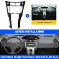 Автомобильная стерео рамка Fascias отделка 2 Din автомобиля для Toyota Yaris Vitz Platz 2005 2006 2007 2008 2009-2011 крышка отделка комплект 178*100 мм панель