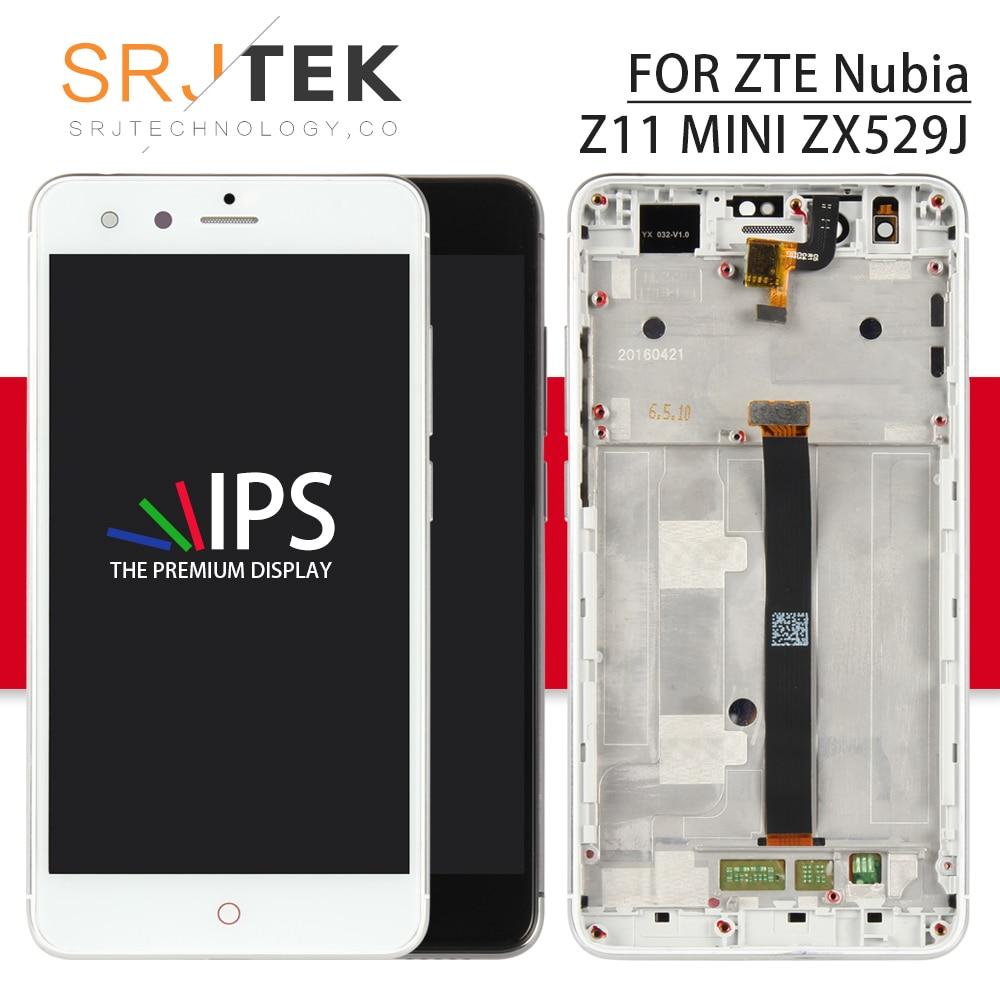 Srjtek 5.0 For ZTE Nubia Z11 Mini LCD Display Touch Screen Digitizer Sensor Assembly With Frame TD-LTE NX529J Black/WhiteSrjtek 5.0 For ZTE Nubia Z11 Mini LCD Display Touch Screen Digitizer Sensor Assembly With Frame TD-LTE NX529J Black/White