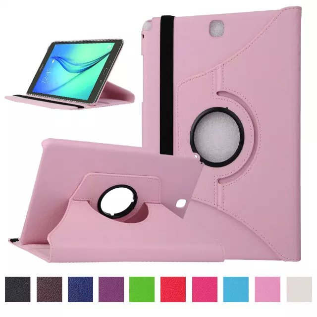 For P550 SM-T550 SM-T555 SM-P550 Tablet Case Bracket Flip Stand Leather Cover For Samsung Galaxy Tab A 9.7 Inch T550 T555+Pen
